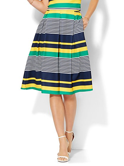7th Avenue Design Studio - Striped Full Skirt  - New York & Company