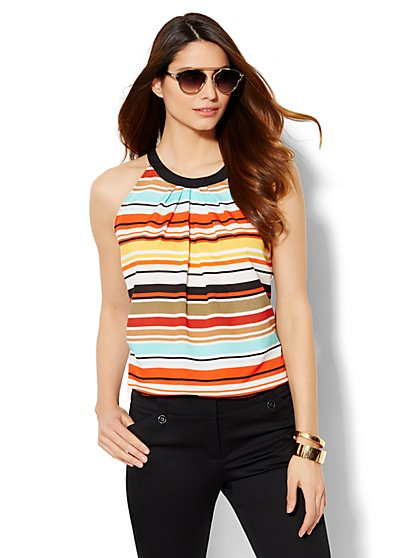 7th Avenue Design Studio - Striped Halter Top  - New York & Company
