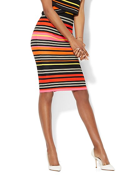 7th Avenue Design Studio - Striped Pencil Skirt - New York & Company