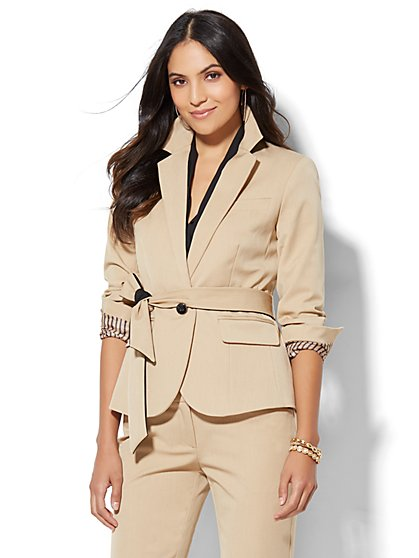 7th Avenue Design Studio - Tie-Waist Jacket - Runway Fit - SuperStretch - Tall  - New York & Company