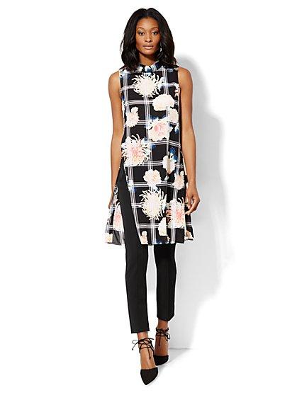7th Avenue Design Studio - Tunic - Floral/Linear Print - Petite - New York & Company