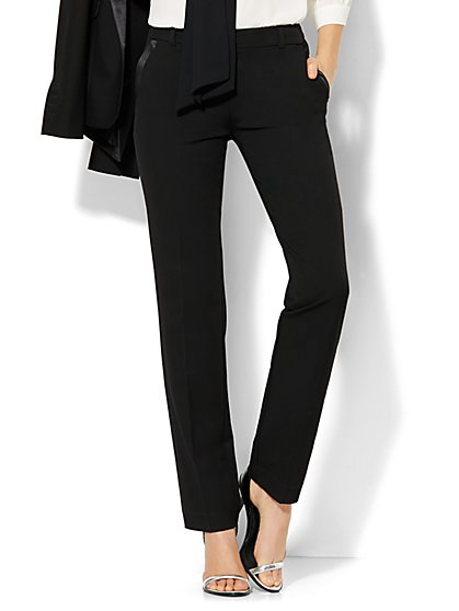 7th Avenue Design Studio Tuxedo Pant - Modern Fit - Slim Leg - SuperStretch  - New York & Company