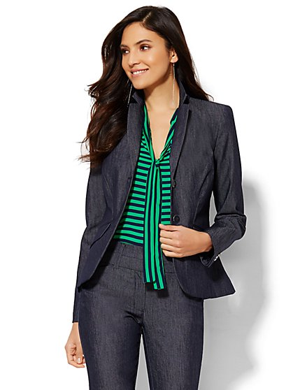 7th Avenue Design Studio Two-Button Jacket - Modern Fit - Grand Sapphire  - New York & Company