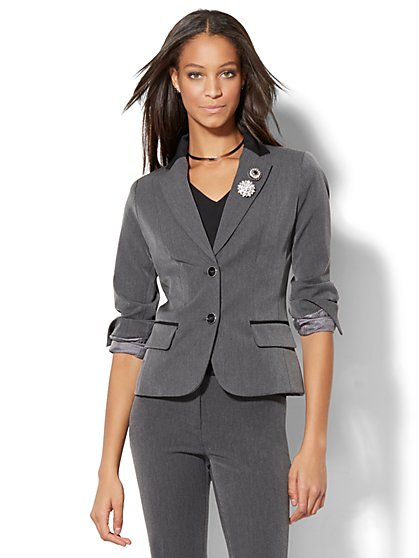 7th Avenue Design Studio - Two-Button Jacket - Modern Fit - SuperStretch - Tall  - New York & Company