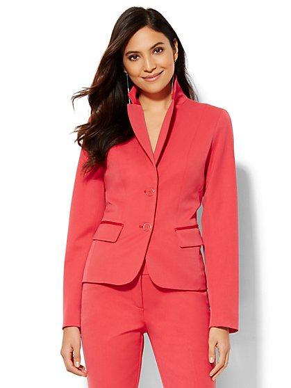 7th Avenue Design Studio Two-Button Jacket - Modern Fit - Superstretch - New York & Company