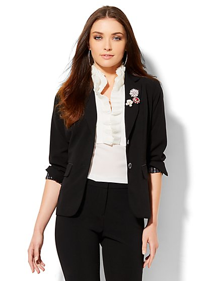 7th Avenue Design Studio - Two-Button Jacket - Signature Fit - Double Stretch - Petite  - New York & Company