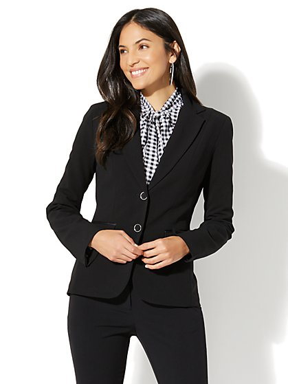 7th Avenue Design Studio - Two-Button Jacket - Signature Fit - Double Stretch  - New York & Company