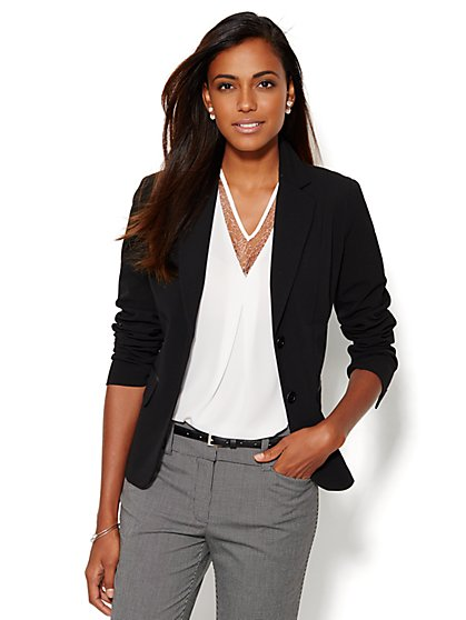 7th Avenue Design Studio Two-Button Jacket - Signature Fit - Double Stretch - New York & Company
