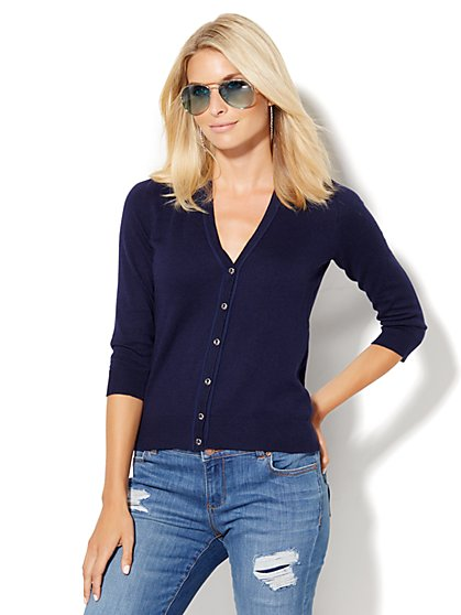 7th Avenue Design Studio - V-Neck Chelsea Cardigan  - New York & Company