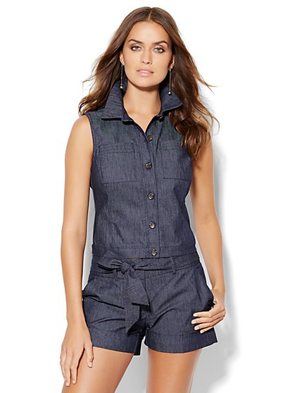 7th Avenue Design Studio Vest - Modern Fit - Grand Sapphire  - New York & Company