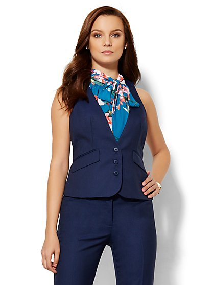 7th Avenue Design Studio Vest - Modern Fit - Navy  - New York & Company