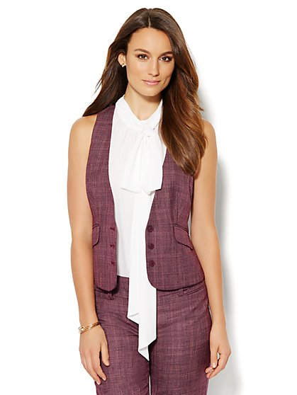 7th Avenue Design Studio Vest - Signature Fit - True Burgundy - New York & Company