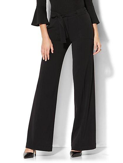 7th Avenue Design Studio - Wide-Leg Pant - Modern - Leaner Fit - Double Stretch  - New York & Company