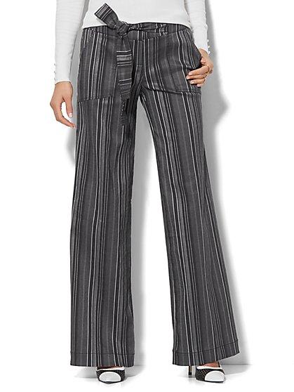 7th Avenue Design Studio - Wide-Leg Pant - Modern - Leaner Fit - Stripe - New York & Company