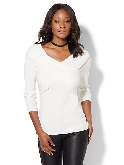 7th Avenue Design Studio - Wrap Sweater  - New York & Company