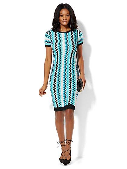 7th Avenue Design Studio - Zigzag Sweater Dress  - New York & Company