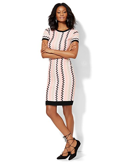 7th Avenue Design Studio - Zigzag Sweater Dress  - New York & Company