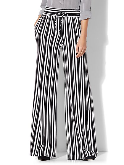 7th Avenue - Drawstring Palazzo Pant - New York & Company