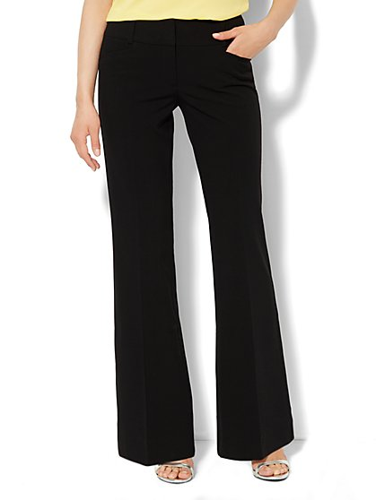 7th Avenue Flare-Leg Pant - Black  - New York & Company