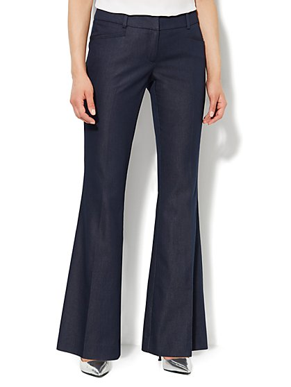 7th Avenue Flare-Leg Pant - Navy  - New York & Company