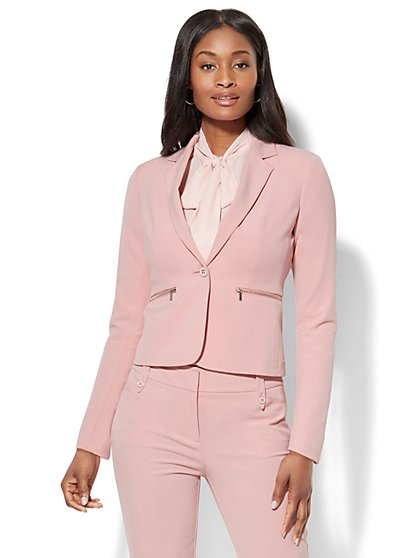 7th Avenue Jacket - One-Button - Modern - Zip Accent - Petite - New York & Company