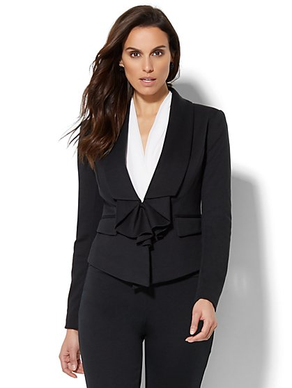 7th Avenue Jacket - Ruffle-Front - New York & Company