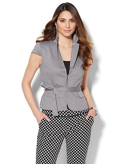7th Avenue Jacket - Short-Sleeve - Signature - Dot Print  - New York & Company