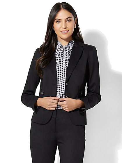 7th Avenue Jacket - Two-Button - Modern - Black - Petite - New York & Company