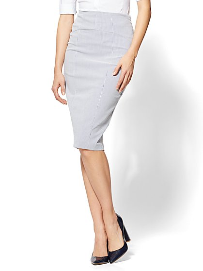 7th Avenue - Lace-Up Back Skirt - New York & Company