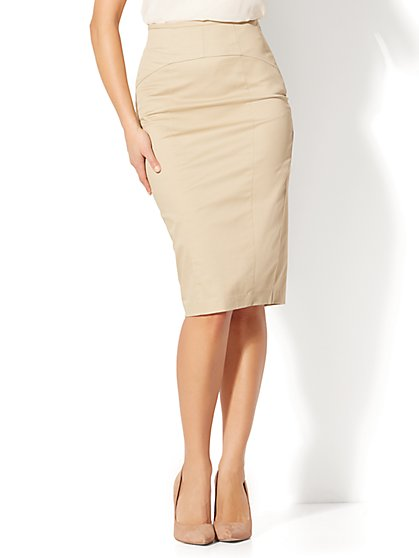 7th Avenue - Lace-Up Pencil Skirt - New York & Company
