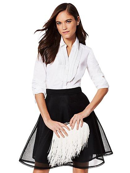 7th Avenue - Madison Stretch Shirt - Pleated-Bib - New York & Company