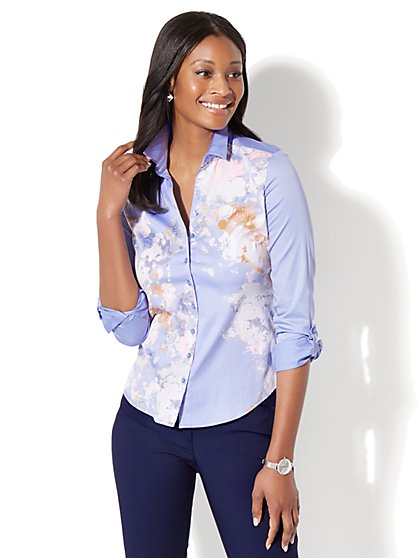 7th Avenue - Madison Stretch Shirt - Poplin - New York & Company