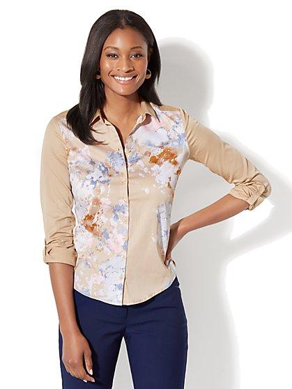 7th Avenue - Madison Stretch Shirt - Poplin - New York & Company