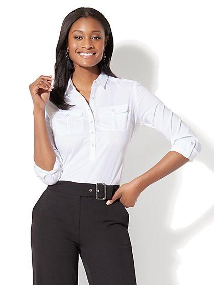 7th Avenue - Madison Stretch Shirt - Popover - Tall - New York & Company