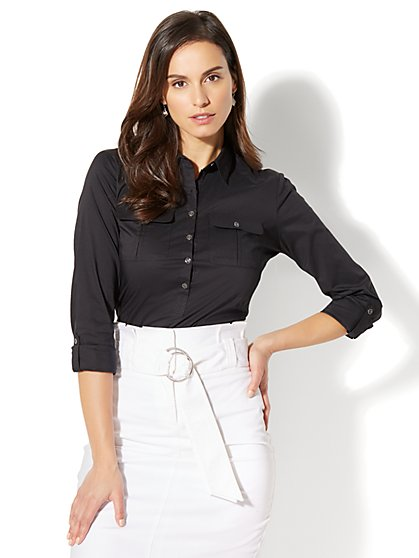 7th Avenue - Madison Stretch Shirt - Popover - New York & Company