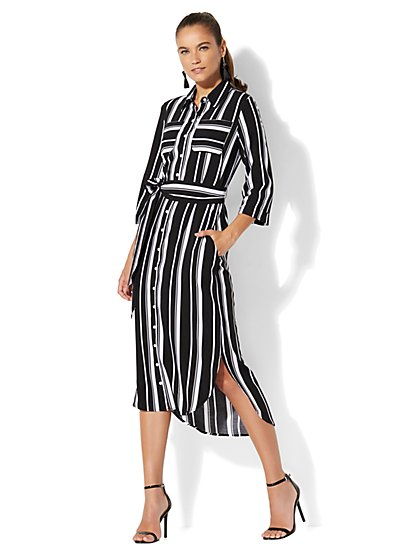 7th Avenue - Midi Shirtdress - New York & Company