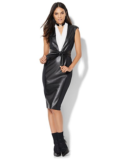 7th Avenue - Obi Sheath Dress  - New York & Company