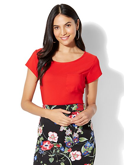 Red Blouses for Women | Women's Shirts | NY&C
