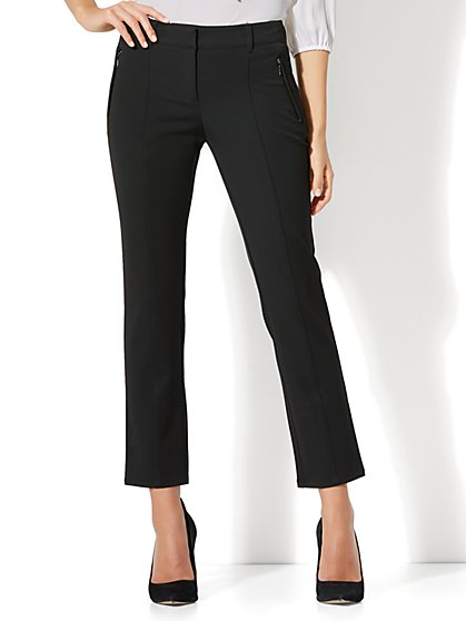7th Avenue Pant - Ankle - Runway - Pintuck - SuperStretch - New York & Company