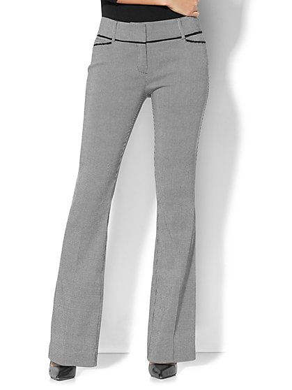 7th Avenue Pant - Bootcut - Modern - Grid Print - New York & Company
