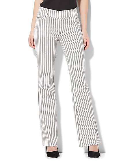 7th Avenue Pant - Bootcut - Modern - Stripe - New York & Company