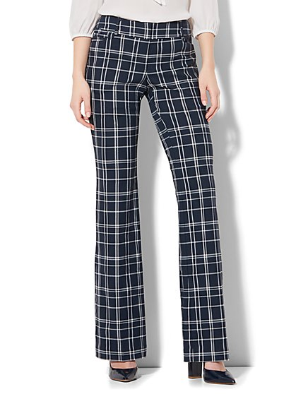 7th Avenue Pant - Bootcut - Signature - Plaid - New York & Company