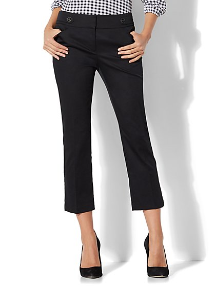 7th Avenue Pant - Crop Straight Leg - Modern - Black - New York & Company