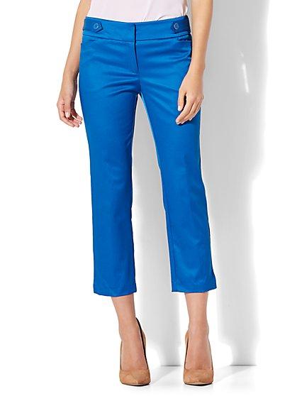 7th Avenue Pant - Crop Straight Leg - Modern Fit - Twill - New York & Company