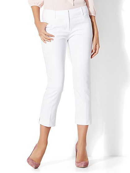 7th Avenue Pant - Crop Straight Leg - Signature - Tall - New York & Company