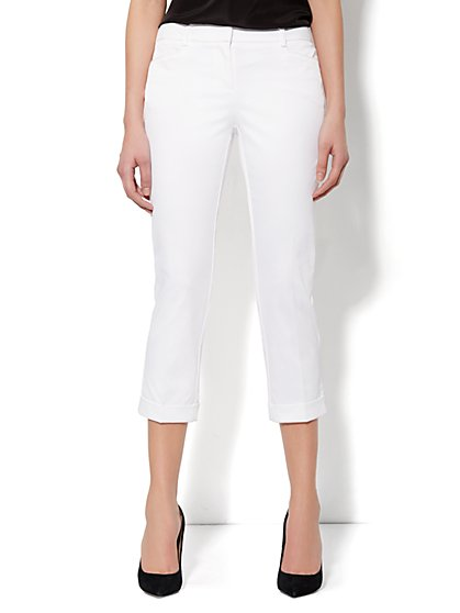 7th Avenue Pant - Cuffed Crop - Optic White