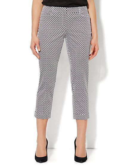 7th Avenue Pant - Cuffed Crop - Sateen Print
