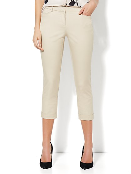 7th Avenue Pant - Cuffed Crop - New York & Company