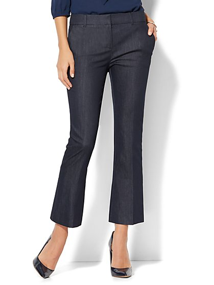 7th Avenue Pant - Flared Ankle - Modern - Hidden Blue - New York & Company