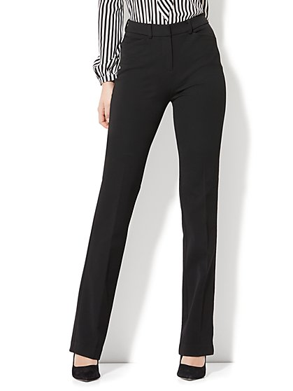 7th Avenue Pant - High-Waist Mini Bootcut - Modern - Black - SuperStretch - Petite - New York & Company